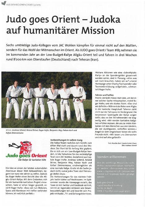 Judoka auf humanitärer Mission