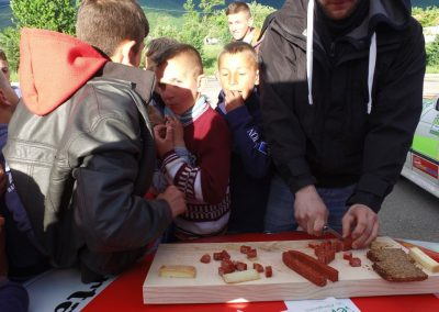 Essen zwischen den Grenzen Albanien-Mazedonien