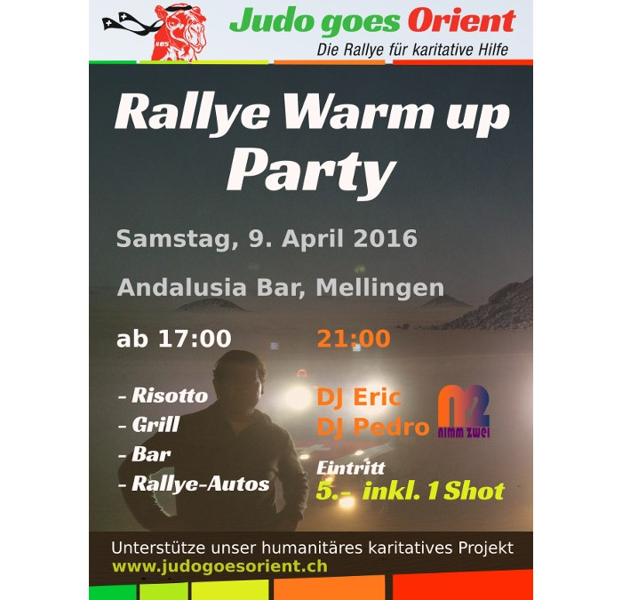 Rallye Warm up Party am Samstag, 09. April im Andalusia, Mellingen