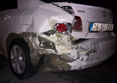 Schaden am türkischen Fahrzeug
